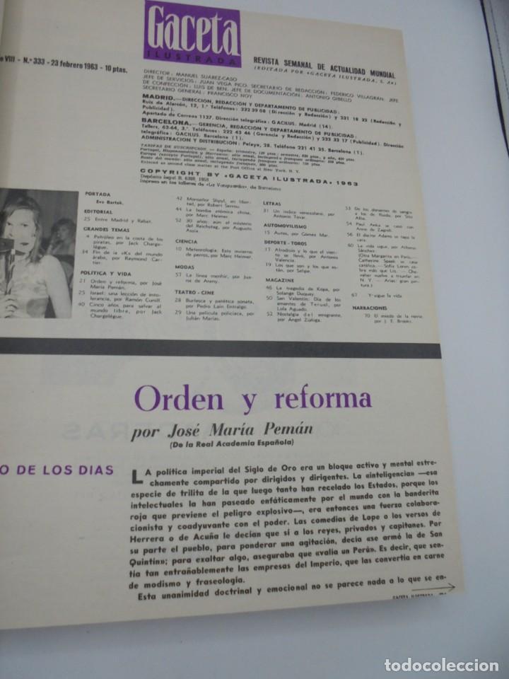 Coleccionismo de Revista Gaceta Ilustrada: GACETA ILUSTRADA. 10 REVISTAS ENCUADERNADAS. DESDE FEBRERO HASTA ABRIL. Nº 330 HASTA EL Nº 339. VER - Foto 9 - 276992063