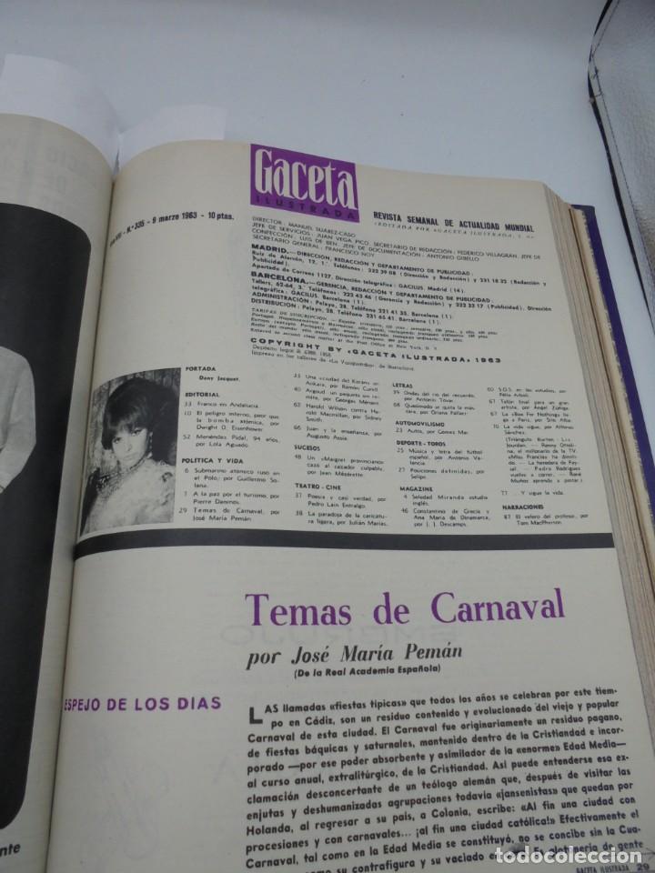 Coleccionismo de Revista Gaceta Ilustrada: GACETA ILUSTRADA. 10 REVISTAS ENCUADERNADAS. DESDE FEBRERO HASTA ABRIL. Nº 330 HASTA EL Nº 339. VER - Foto 13 - 276992063