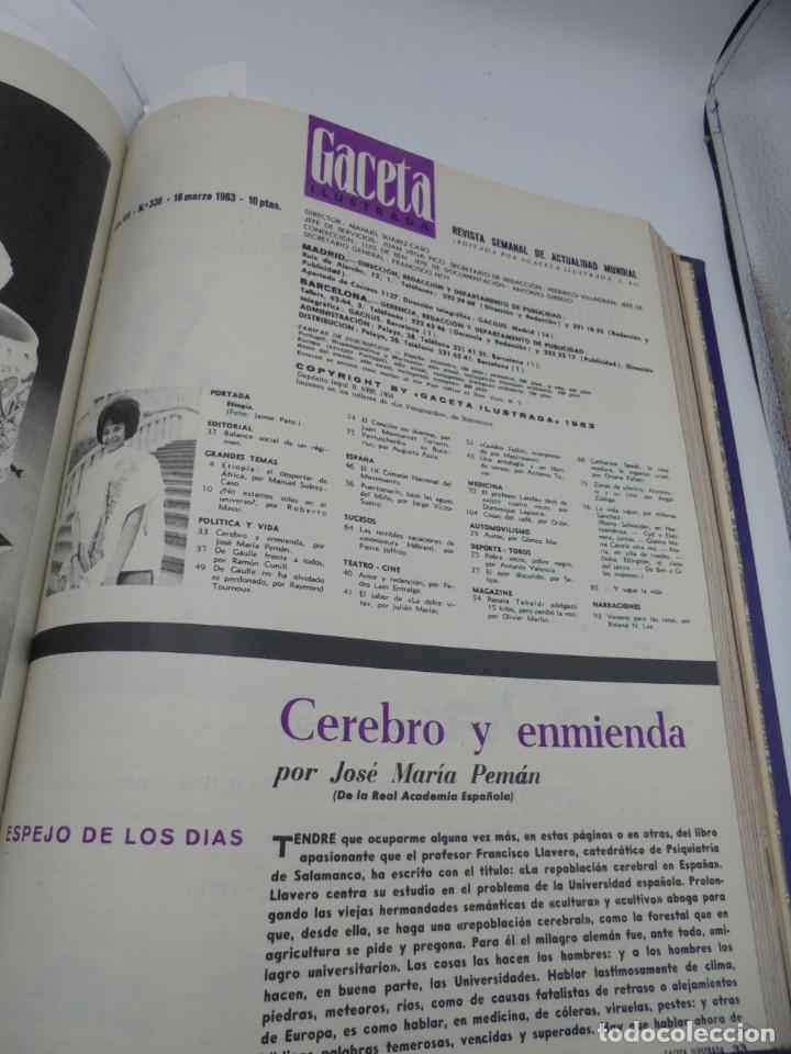 Coleccionismo de Revista Gaceta Ilustrada: GACETA ILUSTRADA. 10 REVISTAS ENCUADERNADAS. DESDE FEBRERO HASTA ABRIL. Nº 330 HASTA EL Nº 339. VER - Foto 15 - 276992063