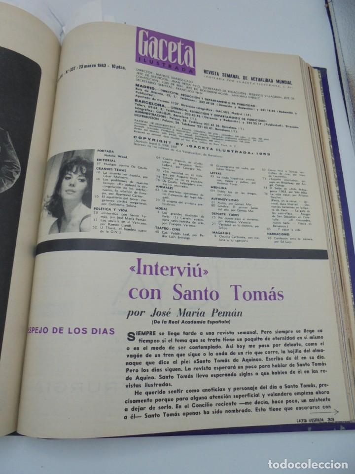 Coleccionismo de Revista Gaceta Ilustrada: GACETA ILUSTRADA. 10 REVISTAS ENCUADERNADAS. DESDE FEBRERO HASTA ABRIL. Nº 330 HASTA EL Nº 339. VER - Foto 17 - 276992063