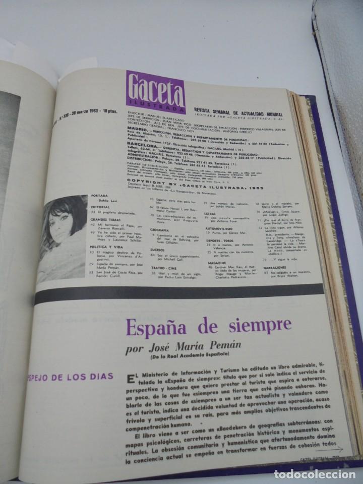 Coleccionismo de Revista Gaceta Ilustrada: GACETA ILUSTRADA. 10 REVISTAS ENCUADERNADAS. DESDE FEBRERO HASTA ABRIL. Nº 330 HASTA EL Nº 339. VER - Foto 19 - 276992063