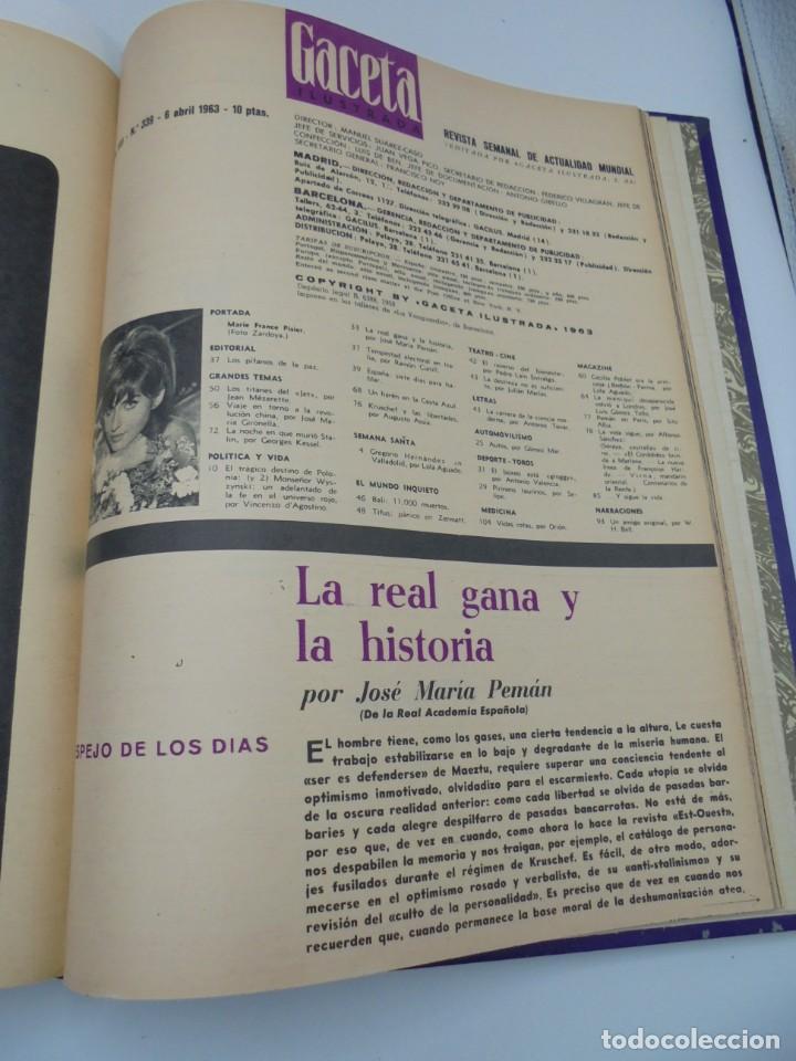 Coleccionismo de Revista Gaceta Ilustrada: GACETA ILUSTRADA. 10 REVISTAS ENCUADERNADAS. DESDE FEBRERO HASTA ABRIL. Nº 330 HASTA EL Nº 339. VER - Foto 21 - 276992063