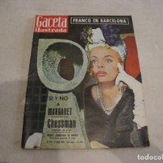 Coleccionismo de Revista Gaceta Ilustrada: REVISTA GACETA ILUSTRADA FRANCO EN BARCELONA Nº 187 1960. Lote 277676523