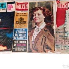 Coleccionismo de Revista Gaceta Ilustrada: AÑOS 60: LA GACETA ILUSTRADA. 3 NÚMEROS ANTIGUOS. ROMMY SCHNEIDER, GERALDINE CHAPLIN.... Lote 286260088