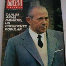 Coleccionismo de Revista Gaceta Ilustrada: REVISTA GACETA ILUSTRADA 901 1974 - CARLOS ARIAS, MADRID, BILBAO, SANTA TERESA DE JOURNET, NAVIPLANO. Lote 287079188