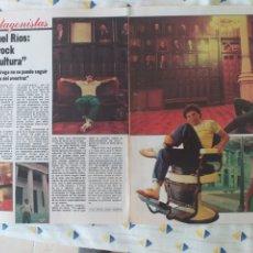 Colecionismo da Revista Gaceta Ilustrada: MIGUEL RÍOS FOTOS ARTÍCULO GACETA ILUSTRADA 1980. Lote 287134608