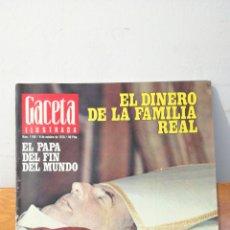Coleccionismo de Revista Gaceta Ilustrada: GACETA ILUSTRADA ~ NUM. 1148 / 8 DE OCTUBRE DE 1978 / 60 PTAS. ~ EL DINERO DE LA FAMILIA REAL. Lote 291351733