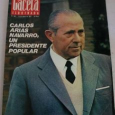 Coleccionismo de Revista Gaceta Ilustrada: REVISTA GACETA ILUSTRADA 901 1974 - CARLOS ARIAS, MADRID, BILBAO, SANTA TERESA DE JOURNET, NAVIPLANO. Lote 291910163
