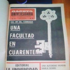 Coleccionismo de Revista Gaceta Ilustrada: REVISTA LA GACETA UNIVERSITARIA AÑO 1968. Lote 293162623