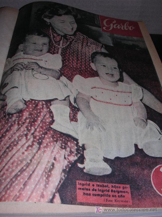 VOLUMEN REVISTA GARBO DEL AÑO I N-17 1953 AL AÑO I N-28 DEL 1953 (Coleccionismo - Revistas y Periódicos Modernos (a partir de 1.940) - Revista Garbo)