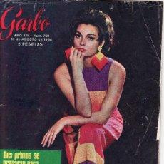 Coleccionismo de Revista Garbo: GARBO.AGOSTO1966 Nº 701. EN PORTADA ROSSANA SCHIAFFINO. Lote 23882907