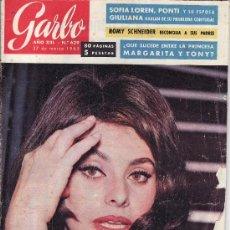Coleccionismo de Revista Garbo: GARBO.MARZO 1965 Nº 629 EN PORTADA SOFIA LOREN . Lote 21069068