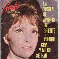 Coleccionismo de Revista Garbo: GINA LOLLOBRIGIDA.GARBO AÑO 1966 Nº 698. ESTA REVISTA Y MAS EN RASTRILLOPORTOBELLO-COLECCIONISMO. Lote 23053046
