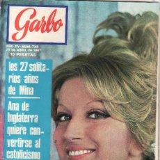 Coleccionismo de Revista Garbo: LAS CHICAS DE LOS ROLLING STONES.GARBO AÑO 1967 Nº 738.. Lote 22713519