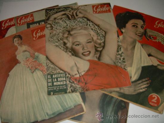 LOTE DE OCHO REVISTAS GARBO AÑOS 1953 - 54 - 56 (Coleccionismo - Revistas y Periódicos Modernos (a partir de 1.940) - Revista Garbo)