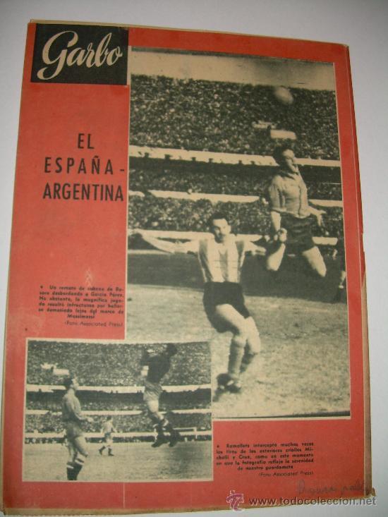 Coleccionismo de Revista Garbo: LOTE DE OCHO REVISTAS GARBO AÑOS 1953 - 54 - 56 - Foto 10 - 26657055