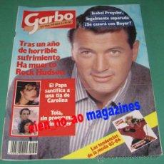 Colecionismo da Revista Garbo: GARBO 1695/1985 ROCK HUDSON~CARMEN MAURA~JOAN MANUEL SERRAT~SIMONE SIGNORET~RICHARD GERE. Lote 27279305