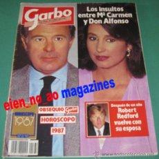 Coleccionismo de Revista Garbo: GARBO 1760/1987 MARI CARMEN MARTINEZ BORDIU~ELIZABETH TAYLOR~ROBERT REDFORD~ALASKA~MARTIRIO. Lote 27271505