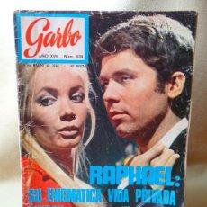 Coleccionismo de Revista Garbo: REVISTA GARBO, RAPHAEL, Nº 838, 1969, NIXON, ONASSIS. Lote 21177281