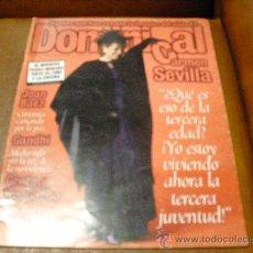 Coleccionismo de Revista Garbo: REV DOMINICAL 1/1998 CARMEN SEVILLA GRAN RPTJE .GANDHI,GRETA Y LOS GARBO,JOAN BAEZ,EL HIERRO,VESTUA. Lote 27037997