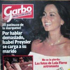 Coleccionismo de Revista Garbo: GARBO Nº1590 10-10-83 POR HABLAR DEMASIADO, ISABEL PREYSLER SE CARGA A SU MARIDO. Lote 29754951