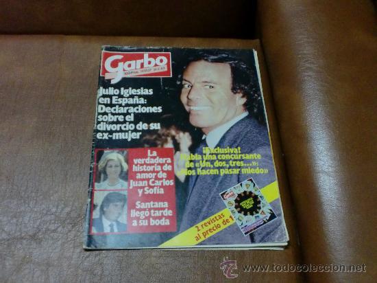 REV GARBO 2/1983 JULIO IGLESIAS RPTJE.RICHARD GERE,BODA MILA /SANTANA,AL BANO/ROMINA,LA TRINCA (Coleccionismo - Revistas y Periódicos Modernos (a partir de 1.940) - Revista Garbo)