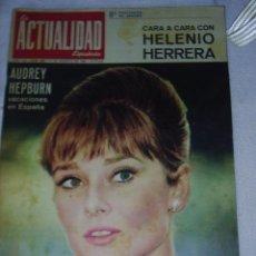 Coleccionismo de Revista Garbo: ACTUALIDAD Nº 658 DE 1964 - PORTADA Y REPORTAGE DE AUDREY HEPBURN Y GRETA GARBO. Lote 31164205