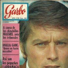 Coleccionismo de Revista Garbo: REVISTA GARBO Nº 903 24 DE JUNIO AÑO 1970, ALAIN DELON.... Lote 31241296