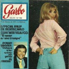Coleccionismo de Revista Garbo: REVISTA GARBO Nº 980, 9 DE FEBRERO AÑO 1972, NINO BRAVO. Lote 31241744