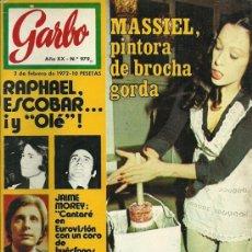 Coleccionismo de Revista Garbo: REVISTA GARBO Nº 979, 2 DE FEBRERO AÑO 1972, MASSIEL. Lote 31241799