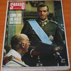 Coleccionismo de Revista Garbo: REVISTA SABADO GRAFICO 670 1969, ACCIDENTE KENNEDY, SITIOS REALES, IN EULALIA, MARBELLA, GRETA GARBO. Lote 37889480