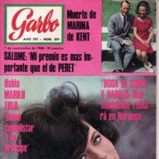Coleccionismo de Revista Garbo: GARBO SEPT 1968 Nº 809. BODA DE SONIA Y HARALD, MUERTE DE MARINA DE KENT,. Lote 38432771