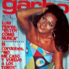 Coleccionismo de Revista Garbo: REVISTA GARBO/ LOLA FLORES, ROCIO DURCAL, PERET, MIGUEL RIOS, MARIBEL MARTIN, MARISA PAREDES Y +++. Lote 38570476