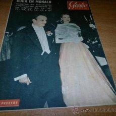 Coleccionismo de Revista Garbo: GARBO Nº 163 ABRIL 1956 BODA GRACE KELLY CON RAINIERO DE MÓNACO - ORIGINAL. Lote 39244583