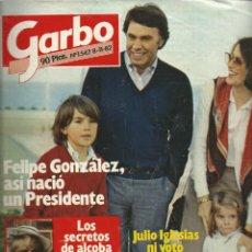 Coleccionismo de Revista Garbo: GARBO CON FELIPE GONZALEZ COMO PRESIDENTE Nº 1542 DE 1982. Lote 43035104