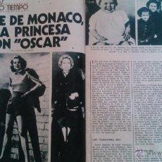 Coleccionismo de Revista Garbo: RECORTES GRACE KELLY GRACIA DE MONACO. Lote 43118195