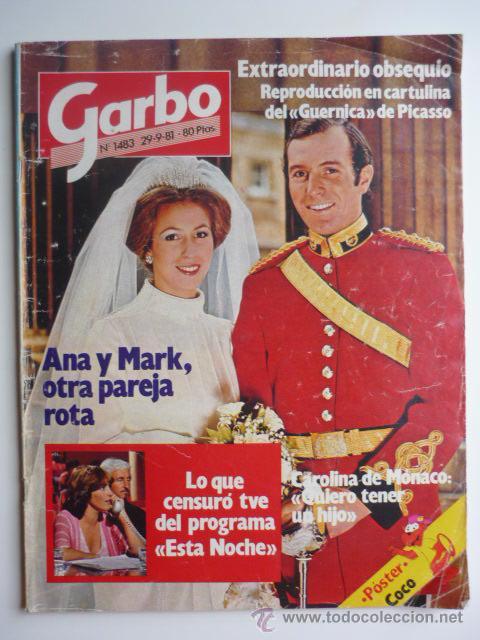 REVISTA GARBO - 29 SEPTIEMBRE 1981 - NUM. 1483 (Coleccionismo - Revistas y Periódicos Modernos (a partir de 1.940) - Revista Garbo)