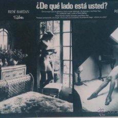 Coleccionismo de Revista Garbo: RECORTES ANUNCIO RENE BARTAN LENCERIA VINTAGE. Lote 43823493