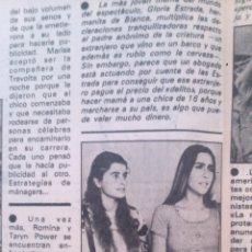Coleccionismo de Revista Garbo: RECORTES ROMINA POWER. Lote 43824962