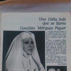 Coleccionismo de Revista Garbo: RECORTES ROCIO JURADO CONCHITA MARQUEZ PIQUER. Lote 43825181