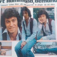 Coleccionismo de Revista Garbo: RECORTES ALBERT HAMMOND. Lote 43825528