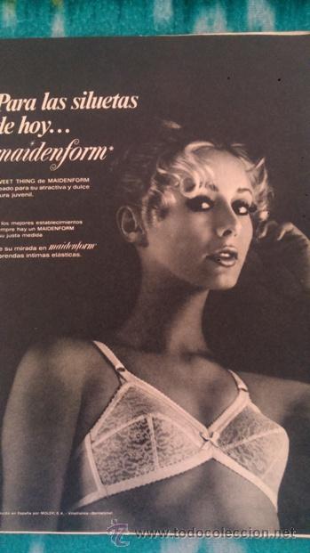 RECORTES ANUNCIO VINTAGE MAIDENFORM SOSTEN SUJETADOR ROPA INTERIOR FEMENINA LENCERIA (Coleccionismo - Revistas y Periódicos Modernos (a partir de 1.940) - Revista Garbo)