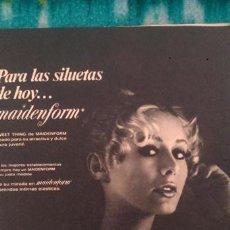 Coleccionismo de Revista Garbo: RECORTES ANUNCIO VINTAGE MAIDENFORM SOSTEN SUJETADOR ROPA INTERIOR FEMENINA LENCERIA. Lote 218071895