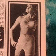 Coleccionismo de Revista Garbo: RECORTES ANUNCIO VINTAGE MAIDENFORM SOSTEN SUJETADOR ROPA INTERIOR FEMENINA LENCERIA ENKASWING. Lote 218071903