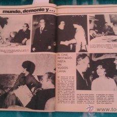 Coleccionismo de Revista Garbo: RECORTES GINA LOLLOBRIGIDA JOSEPHINE BAKER. Lote 43999366