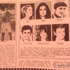 Coleccionismo de Revista Garbo: RECORTES MINA MILVA MORANDI VANONI LITTLE TONY CATERINA CASELLI ENDRIGO GABER. Lote 261672600