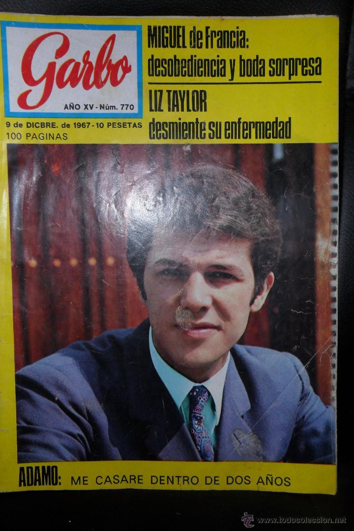 GARBO Nº 770 DE 1967, ADAMO, SAMMY DAVIS JR., LIZ TAYLOR, MIGUEL DE FRANCIA Y MAS... (Coleccionismo - Revistas y Periódicos Modernos (a partir de 1.940) - Revista Garbo)