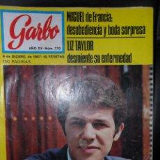 Coleccionismo de Revista Garbo: GARBO Nº 770 DE 1967, ADAMO, SAMMY DAVIS JR., LIZ TAYLOR, MIGUEL DE FRANCIA Y MAS.... Lote 44224668