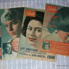 Coleccionismo de Revista Garbo: 3 REVISTAS GARBO N 583 588 619. ANO 1964-1965. Lote 49904124