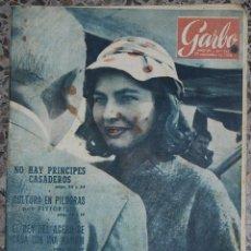 Coleccionismo de Revista Garbo: GARBO Nº 185 AÑO 1956. Lote 51430782